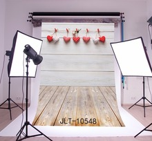 SHENGYONGBAO Vinyl Custom Valentine day Photography Backdrops Prop Wooden and floor Theme Background 10548