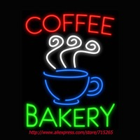 Coffee Bakery Neon Sign Signage Board Food Neon Bulbs Real GlassTube Handcrafted Recreation Windows Business Shop