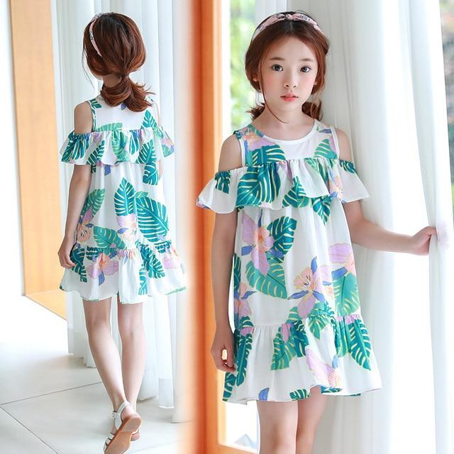 Roupas Infantis Girls Dress Summer Wear Han Edition Children S New