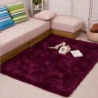 200cmX300cm Soft Silk Anti skid Hair length 3.5cm Plush Shaggy Carpet Area Floor Mats For Living Room Bedside Carpet Alfombras