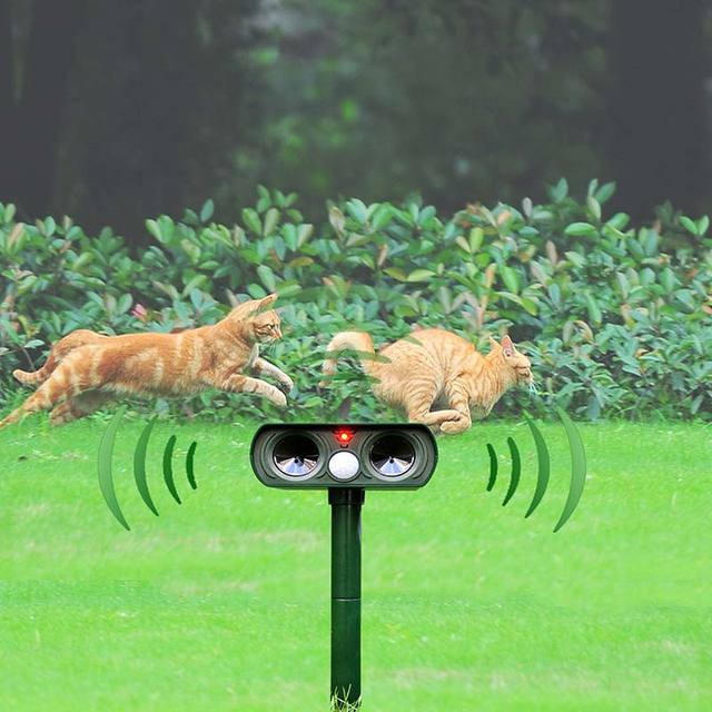Solar Power Ultrasonic Animal Repellent Deterrent Dog/Cat/Bird/Mole PIR Motion Repeller Garden Supplies E2S