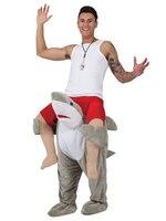مضحك التميمة ازياء الكبار زي للقيادة القرش حيوان مضحك اللباس يتوهم السراويل زي