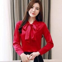 Women Blouses Elegant Silk Shirts Blusas Mujer De Moda 2019 Korean Woman Satin Blouse Shirt Plus Size