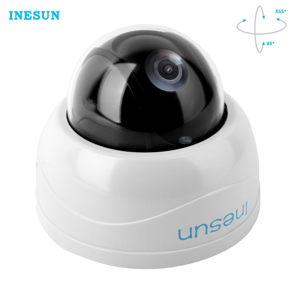 Inesun Pan/Tilt IP Dome Camera 2MP Security Video Surveillance Home Camera Support Infrared Night vision Motion Detection new surveillance ip camera pan tilt p2p ir night vision motion detection wireless wifi indoor home security support 64g tf card