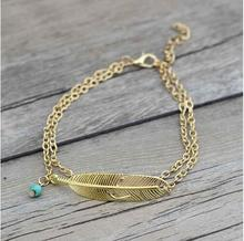 SPECIAL OFFER! Women's Feather Leaf Beach Anklet