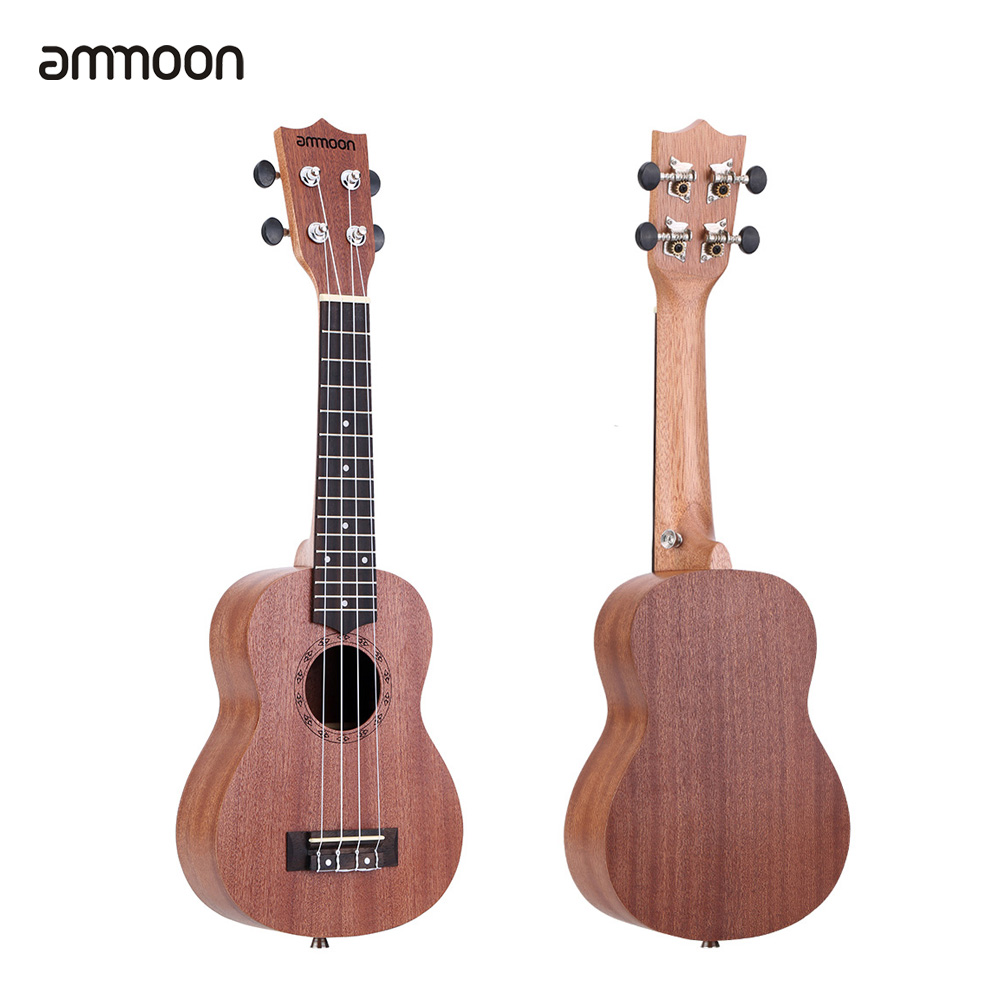 ammoon 21 ukulele sapele acoustic ukelele mini hawaii guitar 15 fret 4 strings ukulele guitar. Black Bedroom Furniture Sets. Home Design Ideas