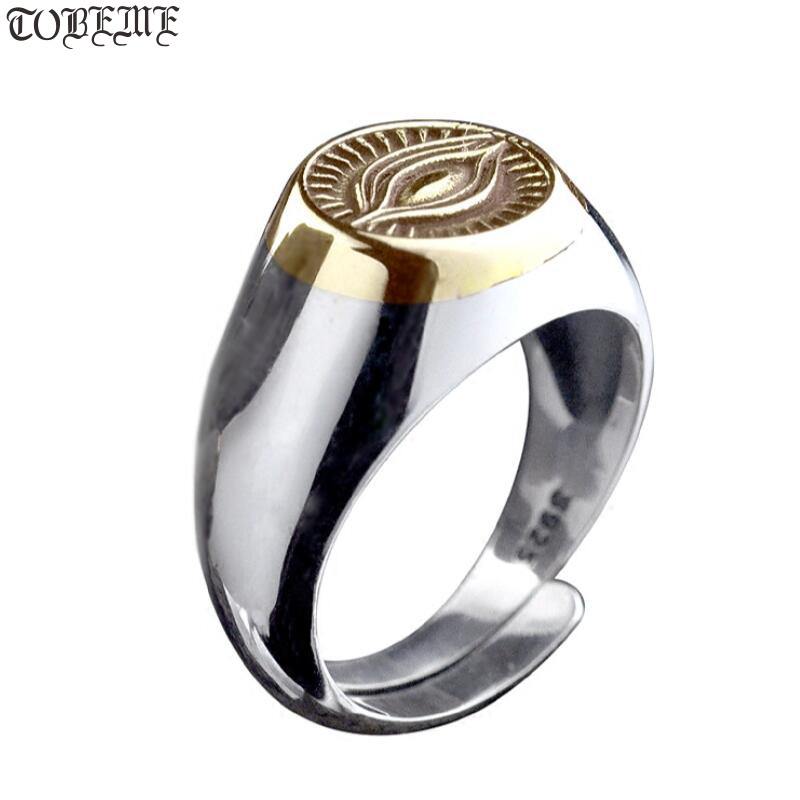 Handmade Solid 925 Silver Wisdom Eye Ring Lover's Ring Real Silver Ring