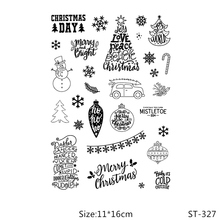 AZSG Christmas Day Snowman Pine Tree Clear Stamps For DIY Scrapbooking/Card Making/Album Decorative Silicone Stamp Crafts