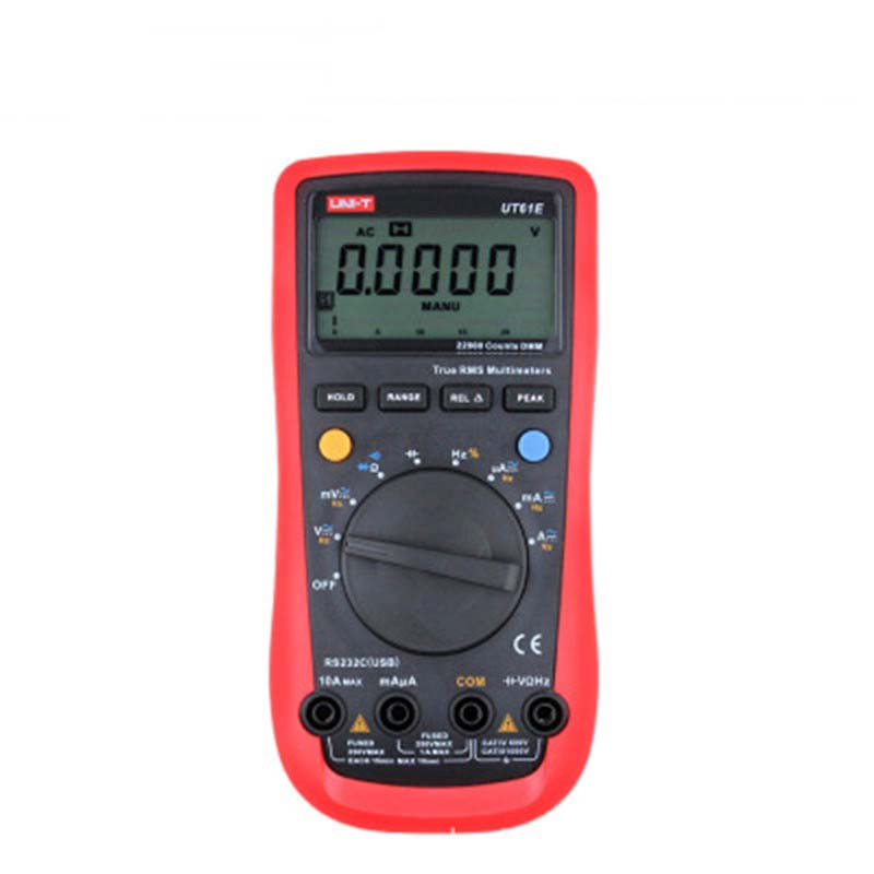 UNI-T UT61B multímetros digitales de rango automático lcd multi tester AC DC corriente tensión multímetro digital temperatura unidad ut61