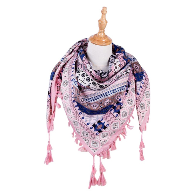 Women's Ethnic Style Tassel Scarf 5