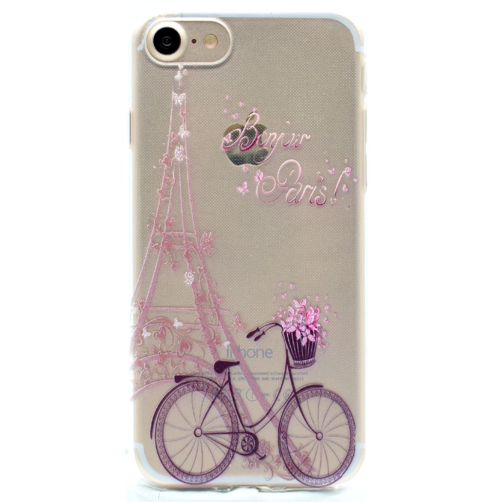 Για Iphone7 Cute Cartoon Butterfly Girl Bicycle TPU Soft Fundas - Ανταλλακτικά και αξεσουάρ κινητών τηλεφώνων - Φωτογραφία 3