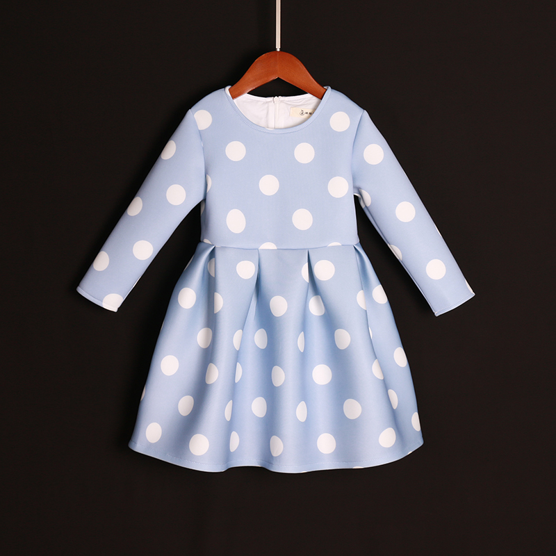 brand Autumn women polka dots infant kids girl pleated dress mom daughter dresses mother and girls dress family matching outfits checcivan family mom daughter short t shirt 2017 autumn mother