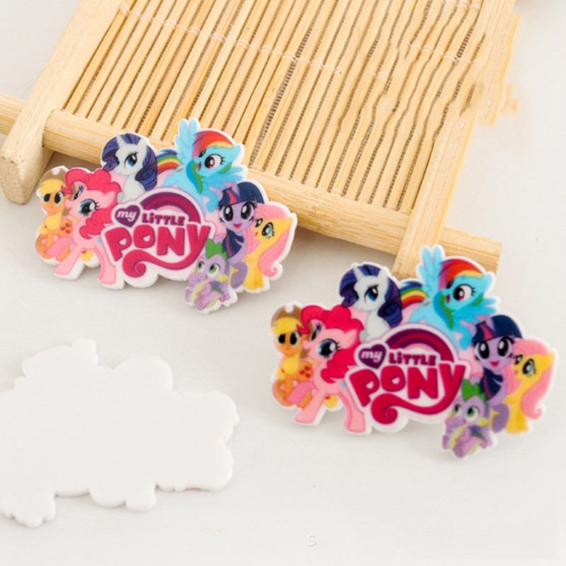 Hot Sale 40pcs/lot 42*31MM Cartoon Flatback Resin Buttons Flat Back Scrapbooking Charming DIY Craft Jewelry Decoration LS100