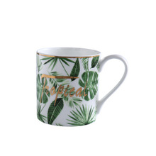 Tropical Plants Bone China Mugs