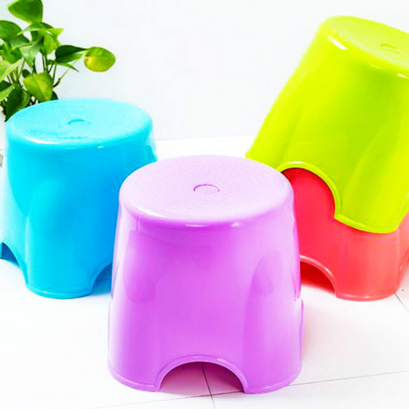 4 pcs/lot Plastic Stools Seat Living Room BATHROOM STEP Furniture ...