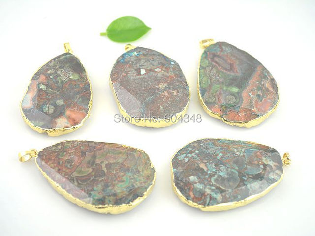 5pcs natural ocean stone slab pendants gem stone drusy necklace 5pcs natural ocean stone slab pendants gem stone drusy necklace pendant jewelry making mozeypictures Gallery
