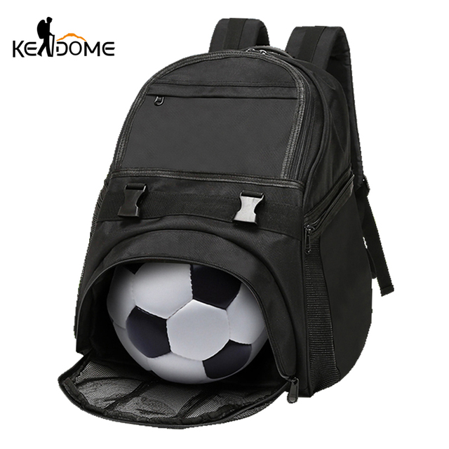 2a3cd9bfa9 Football Basketball Backpack Academy Gym Fitness Bag for Shoes Mesh Storage  Rucksack Waterproof Oxford Training Bag Male XA270WD