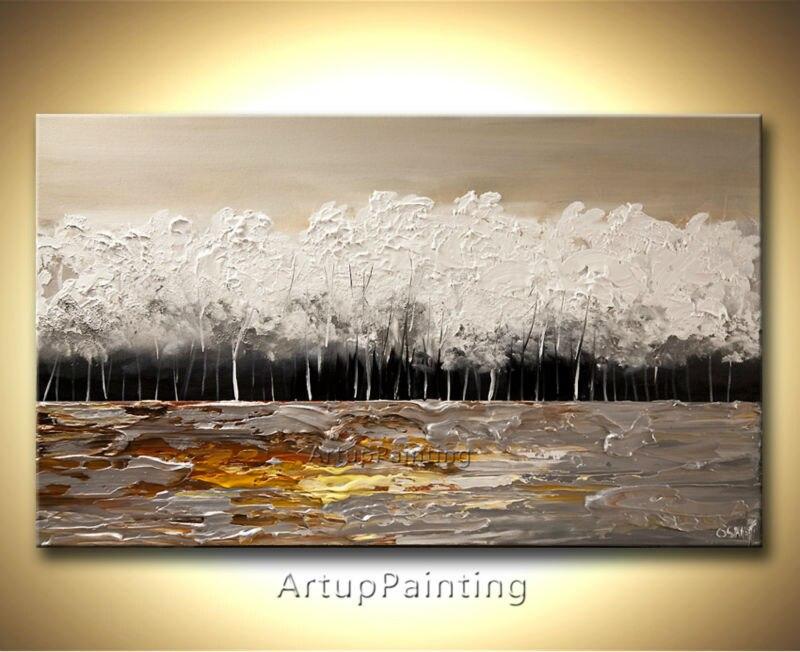Ručně malované plátno Olejomalba Nástěnné obrazy pro obývací pokoj nástěnné dekorace umělecké plátno malování paleta nůž krajina 22