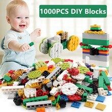 1000Pcs DIY City Creative Bricks Bulk Sets LegoINGLs Minecrafteds Building Blocks Baseplate Toys for Children Christmas Gifts цены