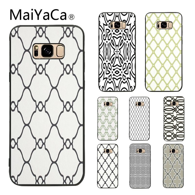 MaiYaCa Black and White Lattice Lovely Design Phone Accessories Case For Samsung Galaxy S3 S4 S5 S6 S7 S8 S9