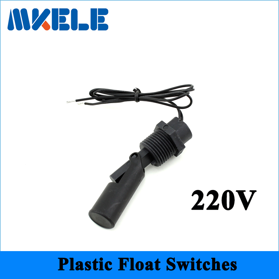 220v MK-PCFS7 PP Right Angle Float Switch Side Mount Horizontal Water Level Sensor Liquid Float Switch For Tank Pool