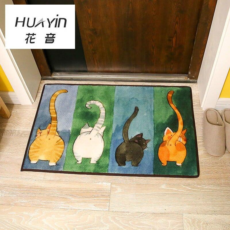 HUAYIN Idées Toilettes Porte Tapis Japonais Mignon Chat Porte Tapis De Sol Paillasson Maison Salon Chambre Carpet Tapis De Sol Mélangé