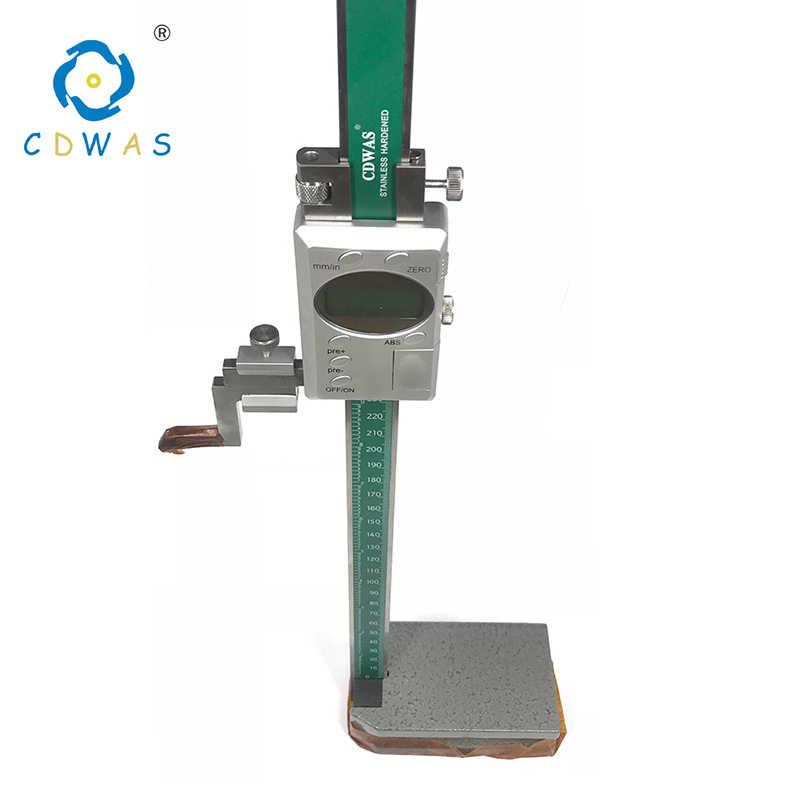 Calibrador Digital de altura 0-300mm 0,01 calibrador de acero inoxidable digital electrónico de altura Calibre vernier herramienta de medición
