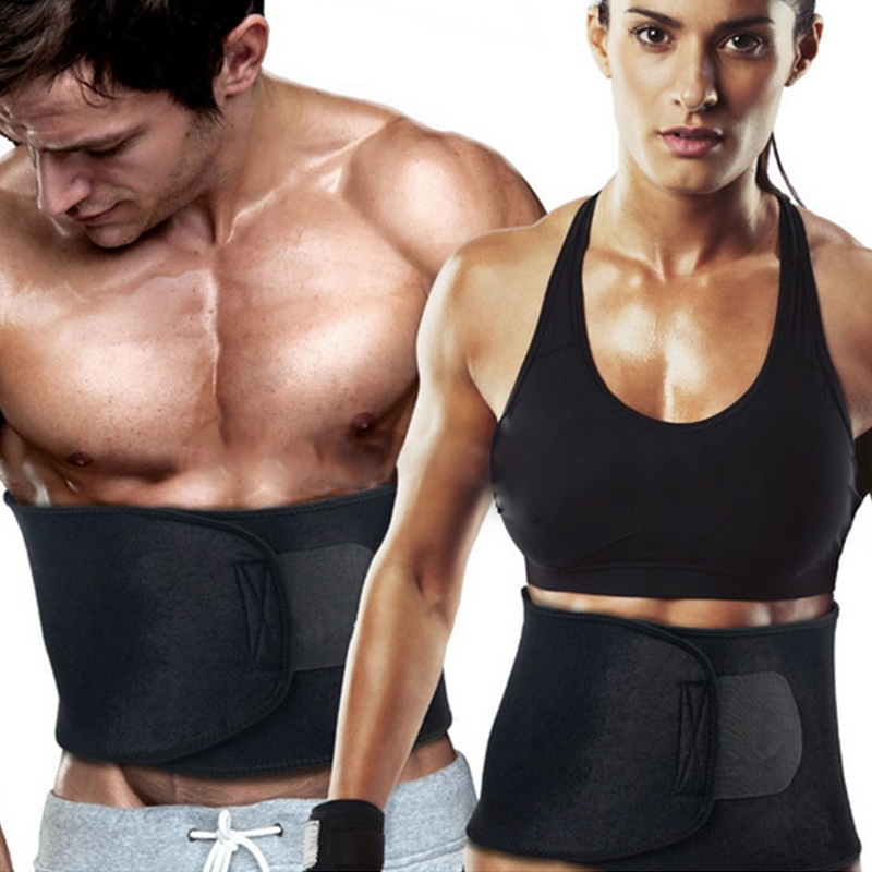 Justerbar söt midja trimmer Sweat Belt Shaper Bantning Bälte Wrap Belly Exercise Tummy Cinchers Bälte för män kvinnor