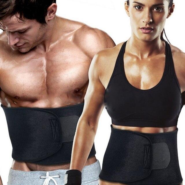 9715bb8a5b Adjustable Sweet Waist Trimmer Sweat Belt Shaper Slimming Belt Wrap Belly  Exercise Tummy Cinchers Girdle for Men Women