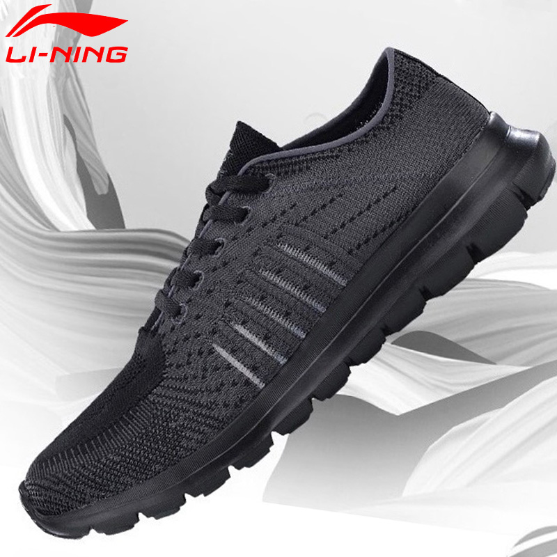 Li Ning Men FLEX RUN Smart Moving Running Shoes Mono Yarn Comfort Fitness LiNing Sport Shoes