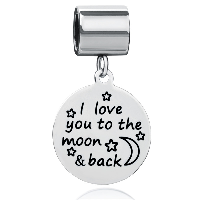 Ckysee 8 Styles 20mm Stainless Steel Round Charms Pendant You Are My Beautiful Sunshine Inspirational Charms Women Jewelry Gift