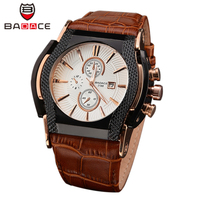 BADACE Sport Fashion Brand Quartz Military Square Watch Men Real Leather Watches Casual Business Wristwatch Male Clock