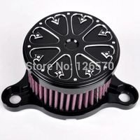 Motorcycle Air Filter Motorbike Moto parts Black Air Cleaner Intake Filter System For 2004 14 Harley Sportster XL 883 1200