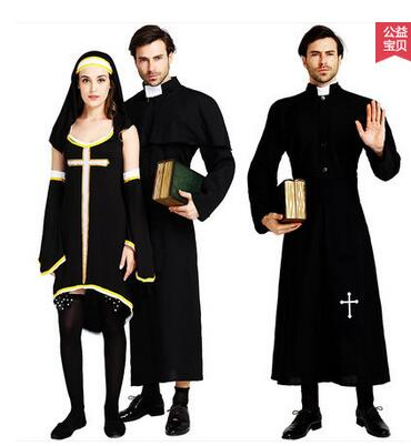 The funny priest and nun costumes for explanation