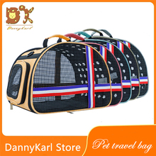 DannyKarl 2019 New Multi-Color Billiard Shoulder Breathable Linen Unchanged Type Easy To Go Out Portable Pet Bag Travel Cat