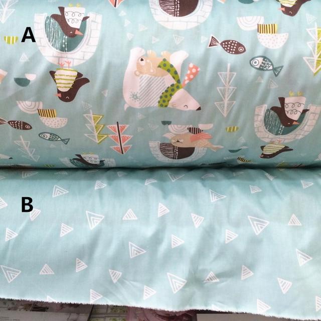 Exceptionnel 160 cm * 50 cm bébé ours Polaire impression coton tissu lit  ST45