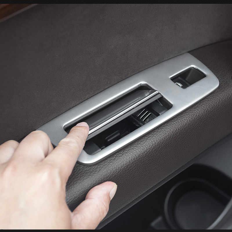 車インテリアリヤドアアームレスト窓リフタースイッチボタン装飾トリム 7 個アウディ Q7 2008-2015 インテリア自動車の付属品