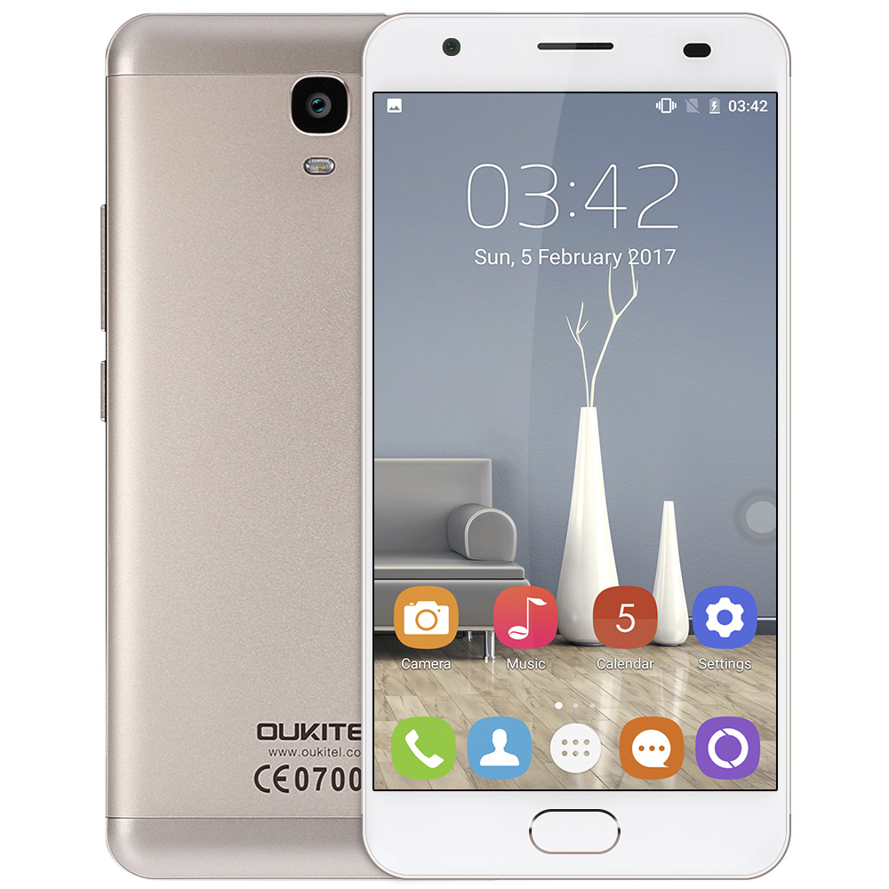 OUKITEL OK6000 Plus / K6000 Plus SA 4G Smartphone 16MP 5.5'' Android 7.0 MTK6750T Octa Core 1.5GHz 4GB+64GB 6080mAh Mobile Phone