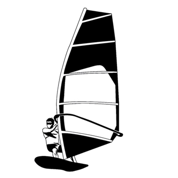 8.2CM*15.1CM Fashion Sailboat Water Sports Vinyl Car Stickers Silhouette Black/Silver Decor S9-1090 image