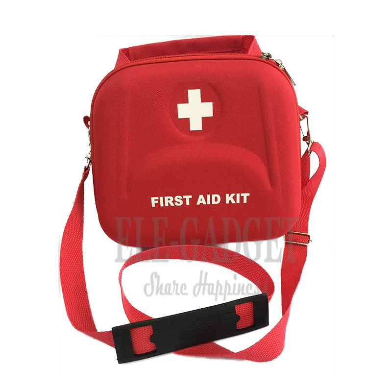 High Quality Home Portable Waterproof First Aid Kit Red EVA Bag For Family Or Travel Emergency Medical Treatment