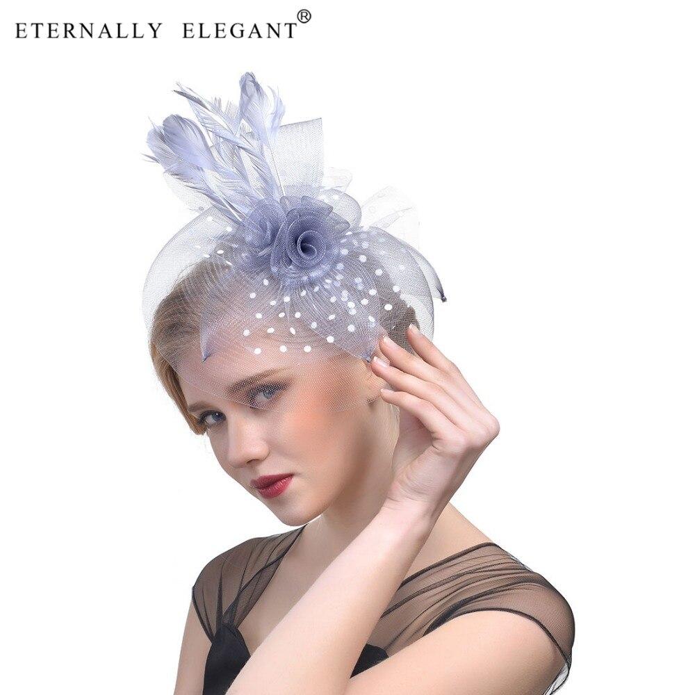 Bowler Net Yarn Headwear Feather Hat Bridal Hair Accessories  Classic Ladies