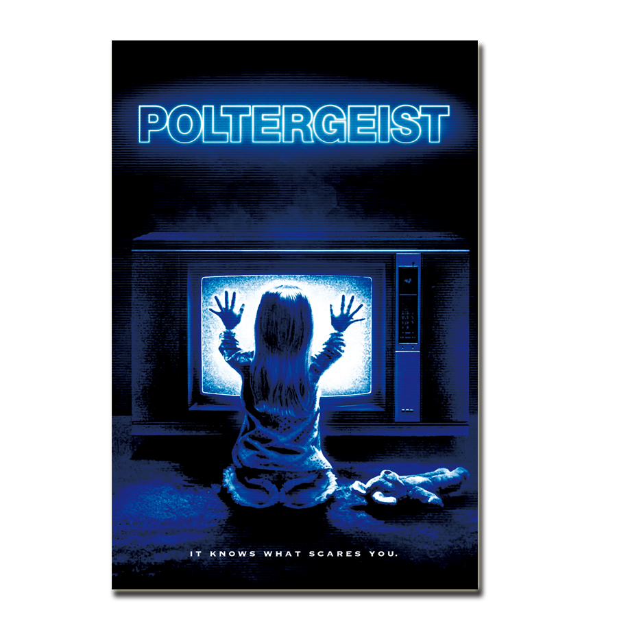 Art Silk Poster POLTERGEIST Movie Horror Paranormal Activity Speilberg Hooper Ghosts gift Canvas 24x36in home Wall decor image