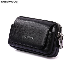 Image 1 - CHEZVOUS Belt Pouch Leather Case for iphone 7 8 6 x Belt Clip Bag for Samsung S8 S7 S6 Classical Mobile Phone Bag Men Waist Pack