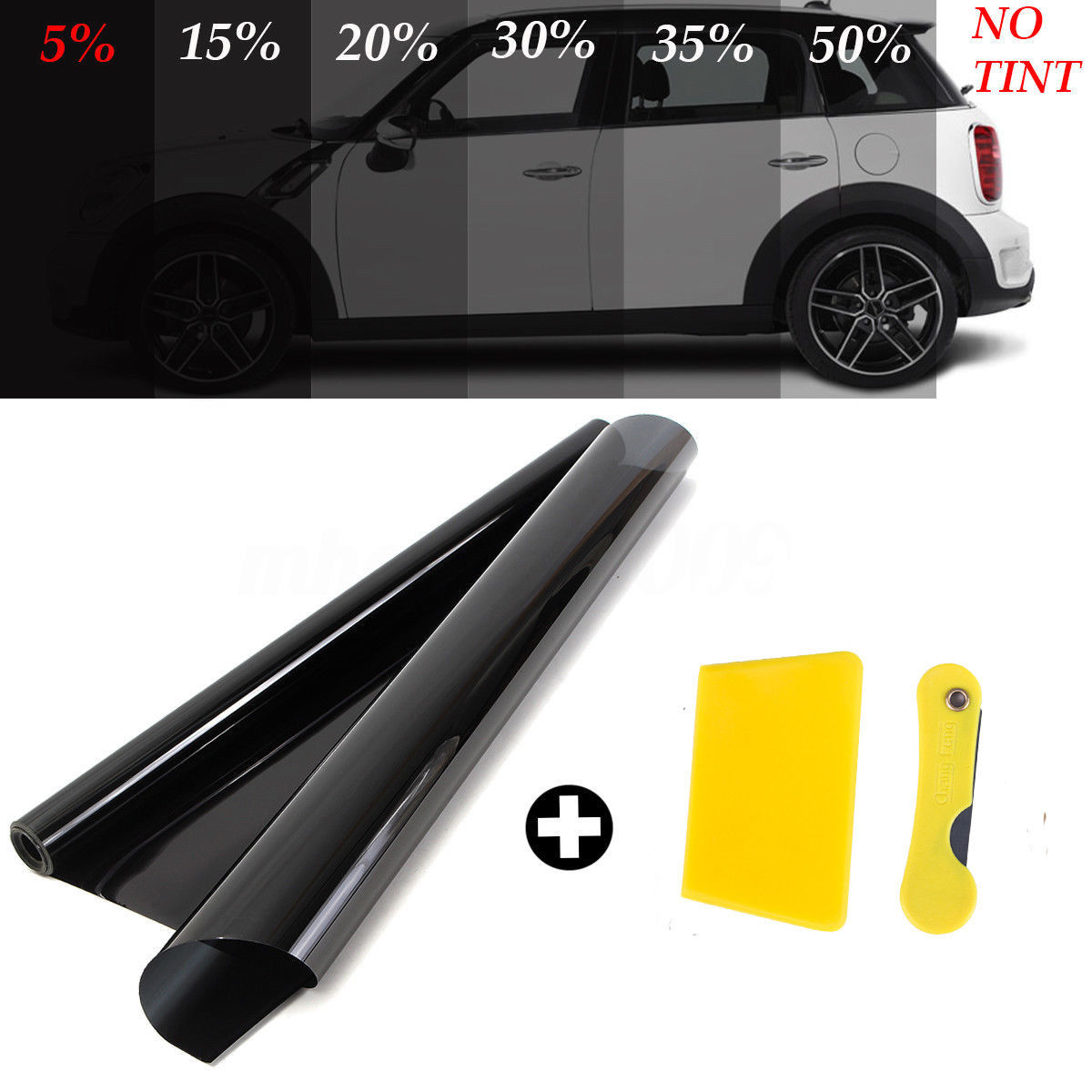 Film-Roll Car-Sticker Uv-Protector Window-Glass Auto Solar Insulation VLT Uncut 300cm