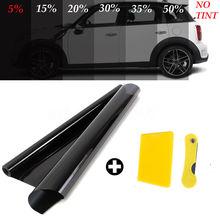 Non coupé 300 cm voiture fenêtre teinte Film rouleau 5% 15% 25% VLT UV + isolation Auto maison fenêtre verre été solaire UV protecteur voiture autocollant