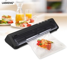 лучшая цена LAIMENG Mini Vacuum Sealer Machine Packer With Accessory Hose And 10pcs Vacuum Packing Machine Bags For Food Free Shipping S134
