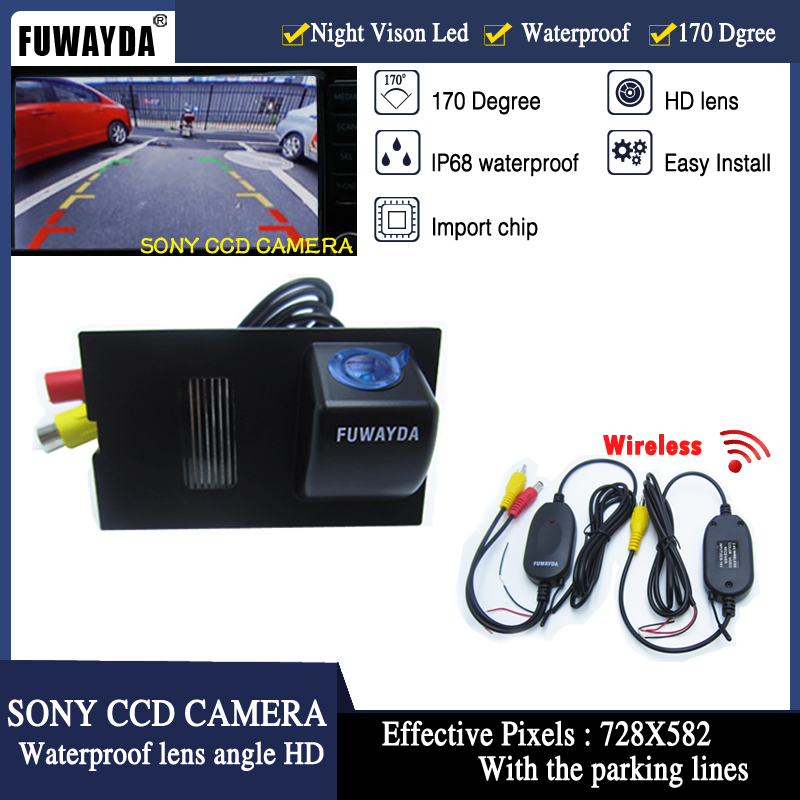 CCD HD Car Rear View Camera Waterproof 140 Degree Wide Angle 8 LED Night Vision