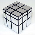 Shengshou 3 x 3 x 3 Mirror Cube oro y plata cubo mágico giro velocidad
