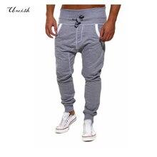 Топ моды 2017 мужские брюки повседневные бегуны pantalon homme свободные тренировочные брюки брюки шаровары hip hop бренд одежды
