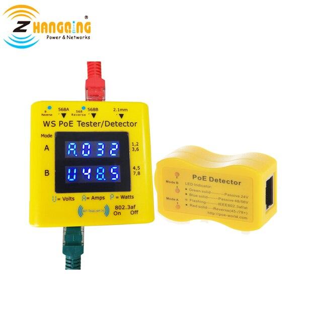 PoE Tester en Detector Bundel Inline PoE Spanning en Stroom Watt Tester + Zakformaat PoE Detector Voor PoE apparaten